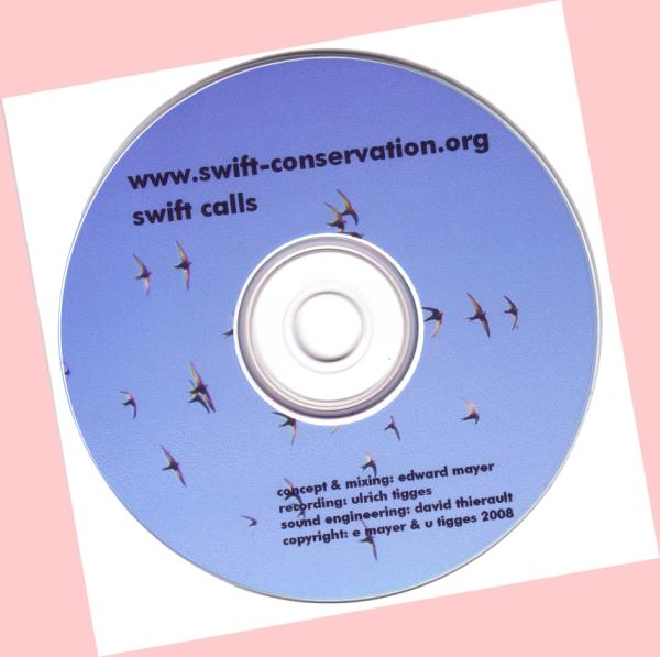 Swift Conservation's Swift Calls CD
